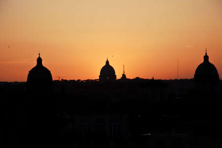 typical dume of Rome by night photo