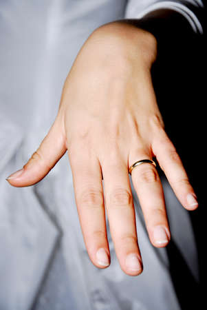 hand showing a wedding ring