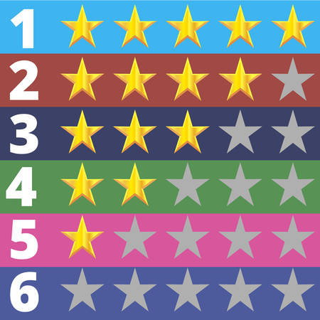 first rate: Star rating, Rank 6 options
