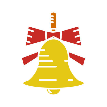 Bell icon flat on white background