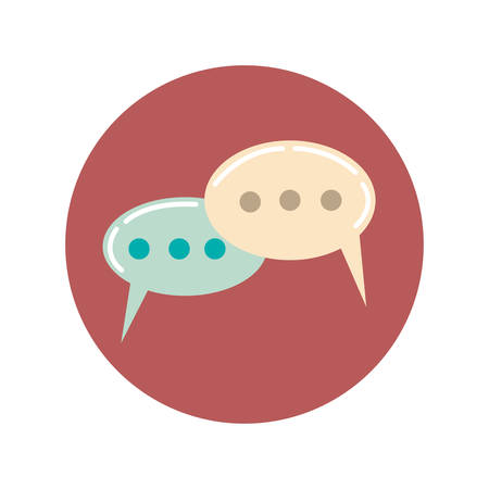 comments: comments icon flat, illustration on white background