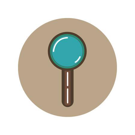 magnifying glass icon flat, illustration on white background 向量圖像