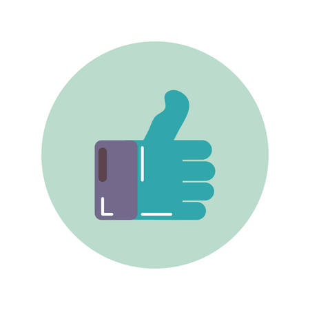 a thumb up icon flat, illustration on white background 向量圖像