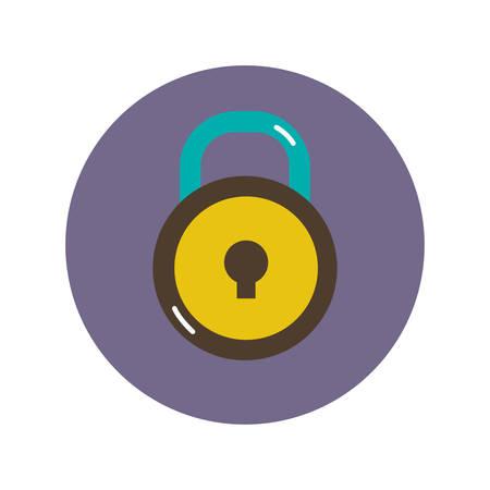 lock flat icon, illustration on white background