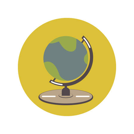 Globe icon flat, illustration on white background