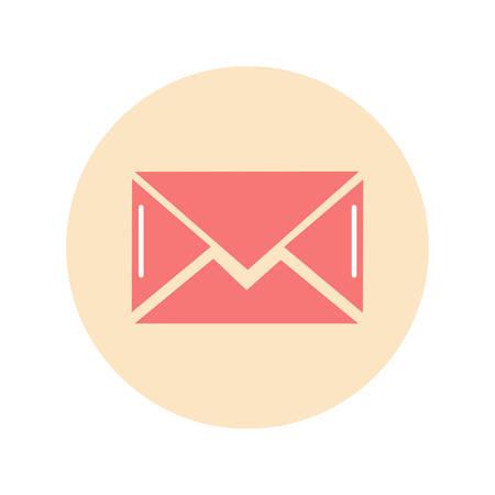 letter icon flat, illustration on white background