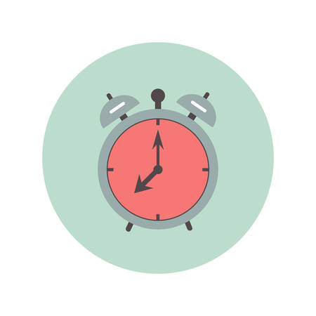 alarm clock flat icon, illustration on white background