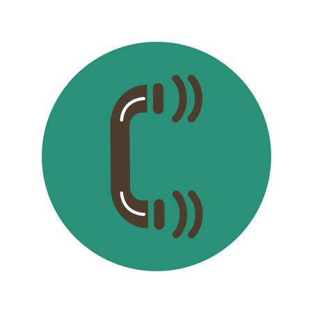 handset: Handset flat icon, illustration on white background Illustration