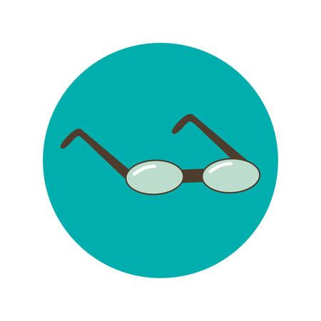 glasses flat icon, illustration on white background