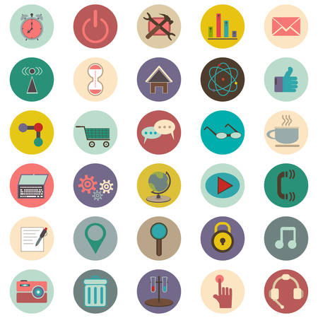 set of 30 icons about the Internet on white background