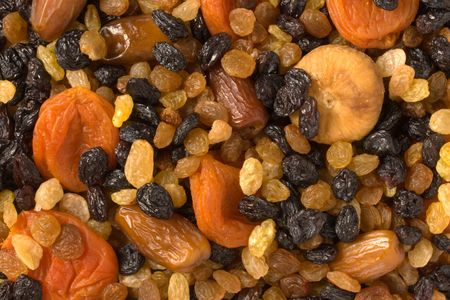 Various dried fruits (apricots, dates, raisins, figs) close-up Stock Photo - 983490