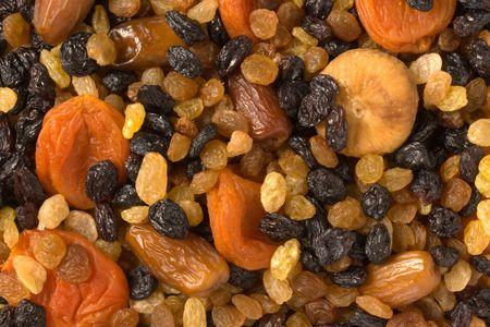 Vaus dried fruits (apricots, dates, raisins, figs) close-up Stock Photo - 983490
