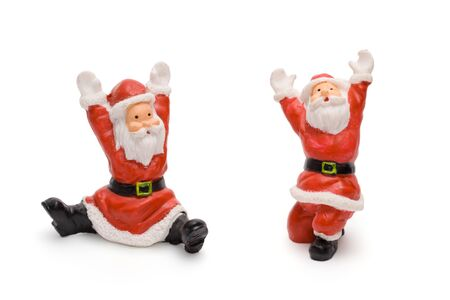 Santa Claus figurines isolated on white background Stock Photo - 1533859