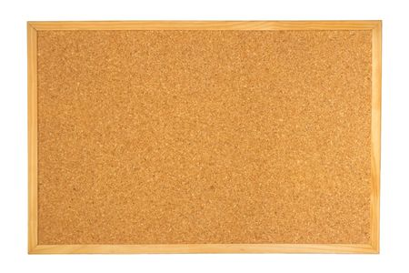 Empty cork board isolated on white background Stock Photo