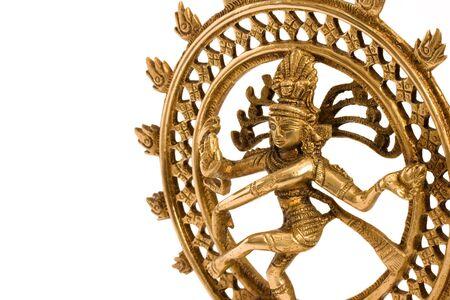 Indian hindu god Shiva Nataraja Lord of Dance isolated on white close up photo
