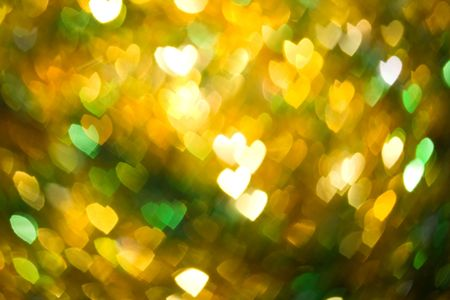Abstract heart shaped blurry defocused pattern photo