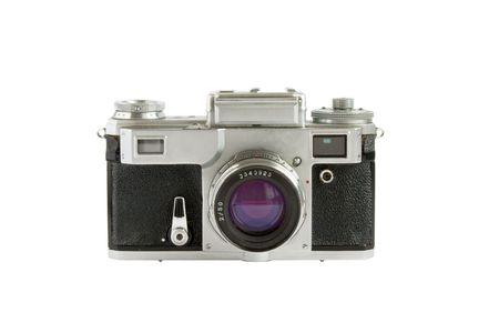 rangefinder: Old rangefinder camera isolated on white background Stock Photo