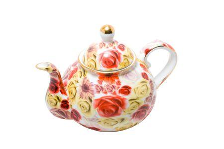 chinese tea pot: Olla de t� chino aislado en blanco