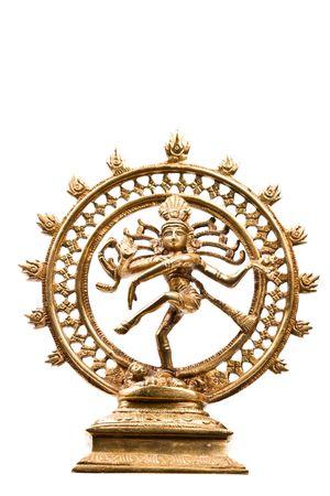 shiva: Statue du Dieu indien hindu Nataraja Shiva - Lord of Dance isol�es sur blanc  Banque d'images