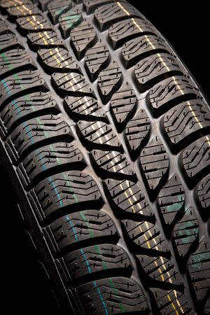 New car tire close up photo