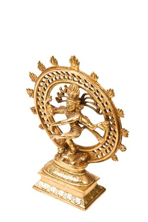 hindu god shiva: Statue of indian hindu god Shiva Nataraja - Lord of Dance isolated on white