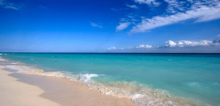 carribean: Beautiful beach and  waves of Caribean Sea