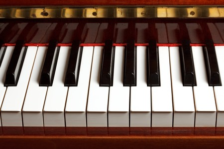 Piano keyboard close up Stock Photo - 4573860