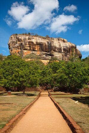 Famous ancient Sigiriya rock. Sri Lanka photo