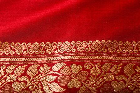 Indian sari close up texture