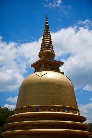 Buddhist dagoba (stupa) close up in Golden Temple, Dambulla, Sri Lanka Stock Photo - 5775183