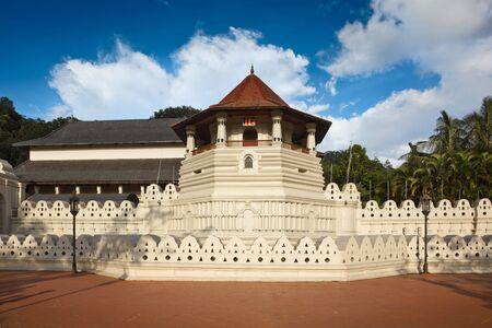 kandy: Very important Buddhist shrine - Temple of the Tooth. Sri Lanka