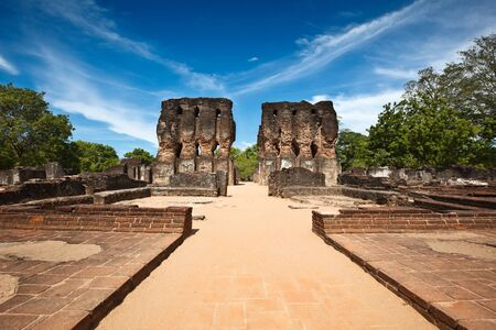 Ancient Royal Palace ruins. Pollonaruwa, Sri Lanka Stock Photo