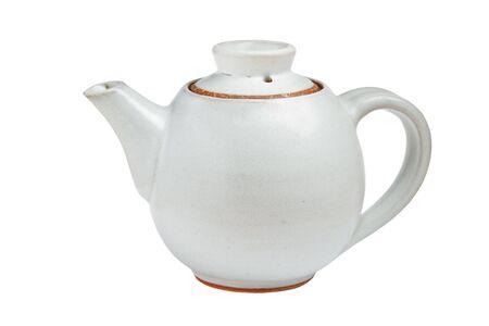 chinese tea pot: Olla de t� chino aislado sobre fondo blanco  Foto de archivo