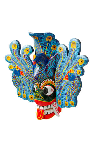 traditinal: Traditinal Sri Lankan mask isolated on white background