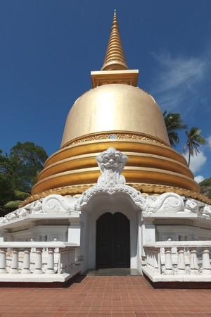 dagoba: Buddhist dagoba (stupa) close up in Golden Temple, Dambulla, Sri Lanka