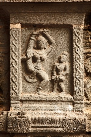 Bas reliefs in Hindue temple. Arunachaleswar Temple. Thiruvannamalai, Tamil Nadu, India photo