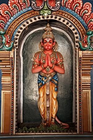 hanuman: Hanuman statue in Hindu Temple. Sri Ranganathaswamy Temple. Tiruchirappalli (Trichy), Tamil Nadu, India