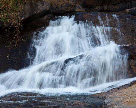 munnar: Athukadu Waterfall. Long exposure. Munnar, Kerala, India