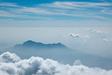 image date: Mountains in clouds. Kodaikanal, Tamil Nadu