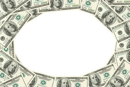Frame made of hudred dollars banknotes  photo