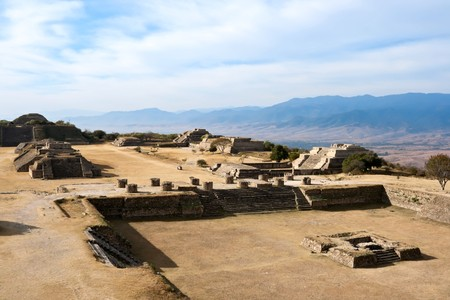 Ancient ruins on plateau Monte Alban in Mexico Stock Photo - 7938024