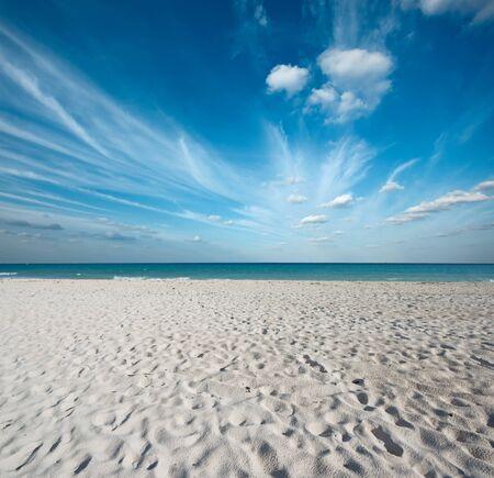 riviera maya: Hermosa playa y las olas del Mar Caribe. Riviera Maya, M?xico Foto de archivo