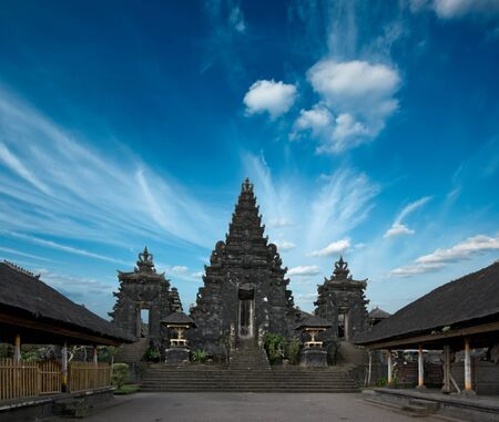 Peaceful yard inside Hindu temple