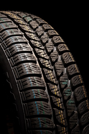 winter tires: New car tire close up Stock Photo