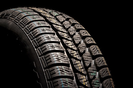 New car tire close up Stock Photo