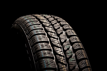 New car tire close up Stock Photo - 8363864