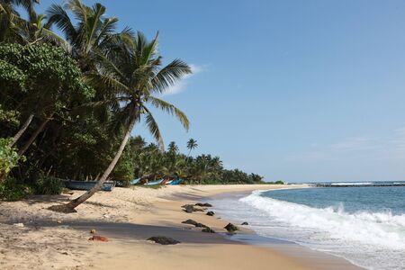 Tropical paradise idyllic beach. Sri Lanka photo
