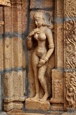tamil nadu: Bas reliefes in Hindu temple. Sri Ranganathaswamy Temple. Tiruchirappalli (Trichy), Tamil Nadu, India