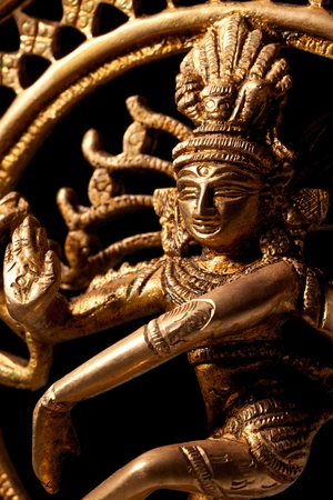 hindu god shiva: Statue of indian hindu god Shiva Nataraja - Lord of Dance close up Stock Photo
