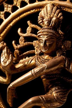 bharatanatyam dance: Statue of indian hindu god Shiva Nataraja - Lord of Dance close up Stock Photo